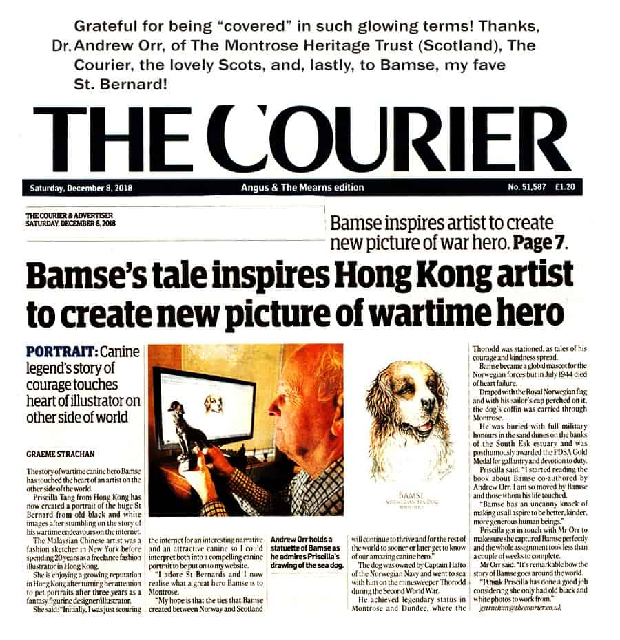 Courier clipping Story of HK artist Bamse